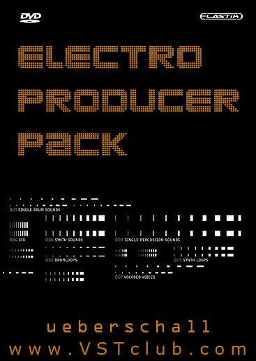 Ueberschall Electro Producer Pack 1 VSTi RTAS AU for PC (1 dvd)